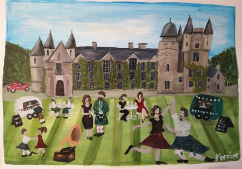 The garden party - A3 acrylic on paper