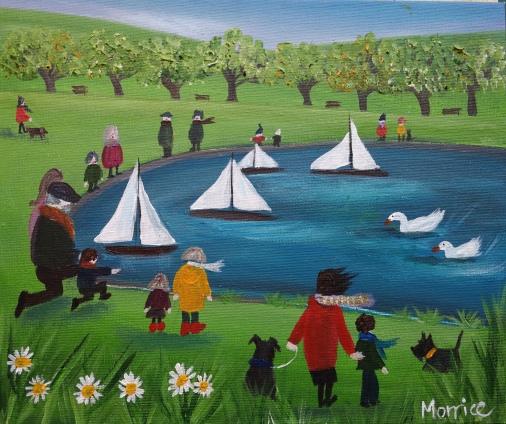 "The boat race 12x10"" canvas board"