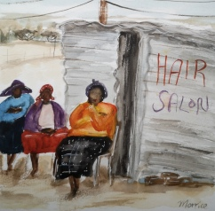 The hair salon 21x21cm £145